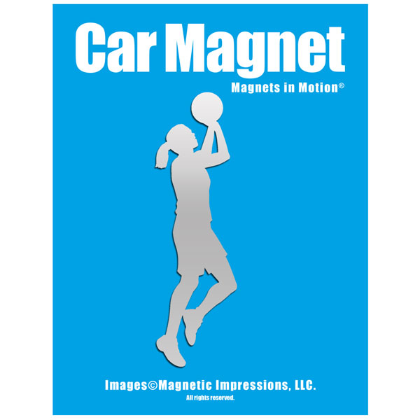 Basketball Player Women's Car Magnet Chrome