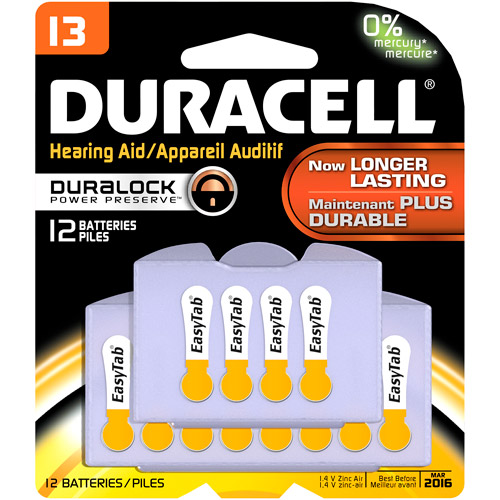 Duracell Easy tab Hearing Aid Size 13, 12 Count