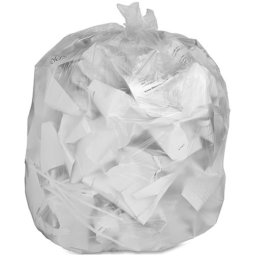 Genuine Joe Economy High Density Trash Can Liners, Translucent, 45 gal, 250 count