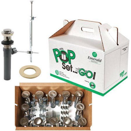 Prime-Line RP31200SN12 Pop Set Go Kit Satin/Brushed Nickel with Putty, 12pk