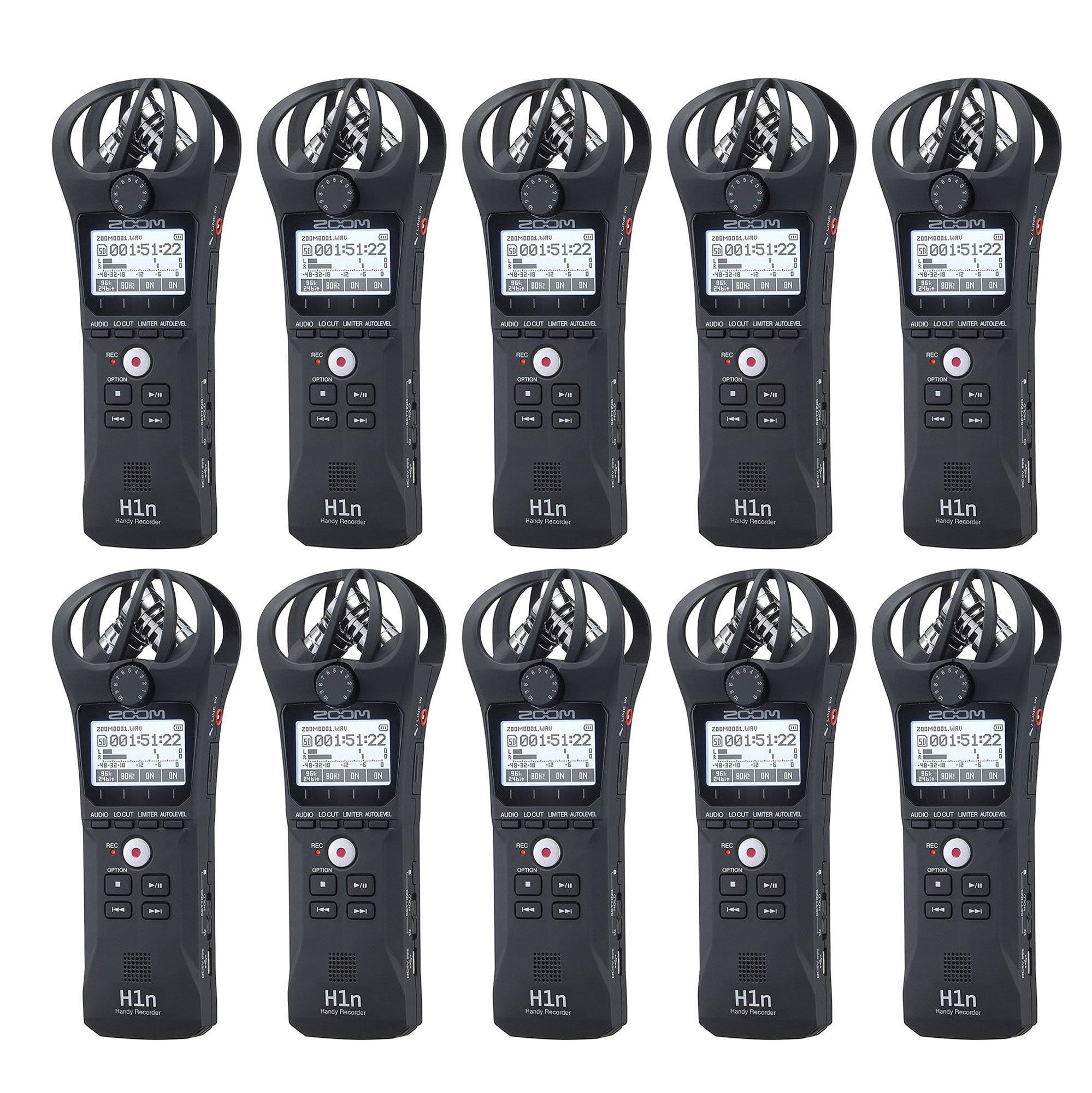 Zoom ZH1N Handy Portable Wireless Digital Audio Recorder & Mic (10 Pack)