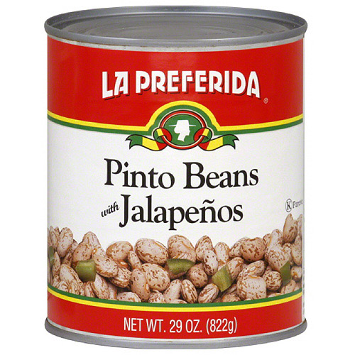 La Preferida Pinto Beans With Jalapenos, 29 oz (Pack of 12)