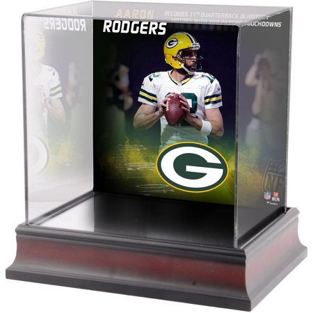 - Aaron Rodgers Green Bay Packers Deluxe Mini Helmet Case Commemorating 300 Career Touchdown Passes