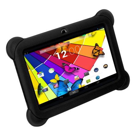 KOCASO [KIDS TABLET] DX768 7 Inch Kids Tablet  - [Android 4.4 /  Quad-Core Processor / Dual Camera] with Stylus, Screen Protector, Earbuds, Carrying Pouch, Protective Silicone Cover - Black