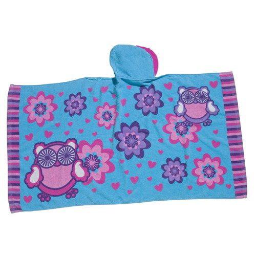 Three Cheers For Girls! Owl Ruffle Hooded Towel