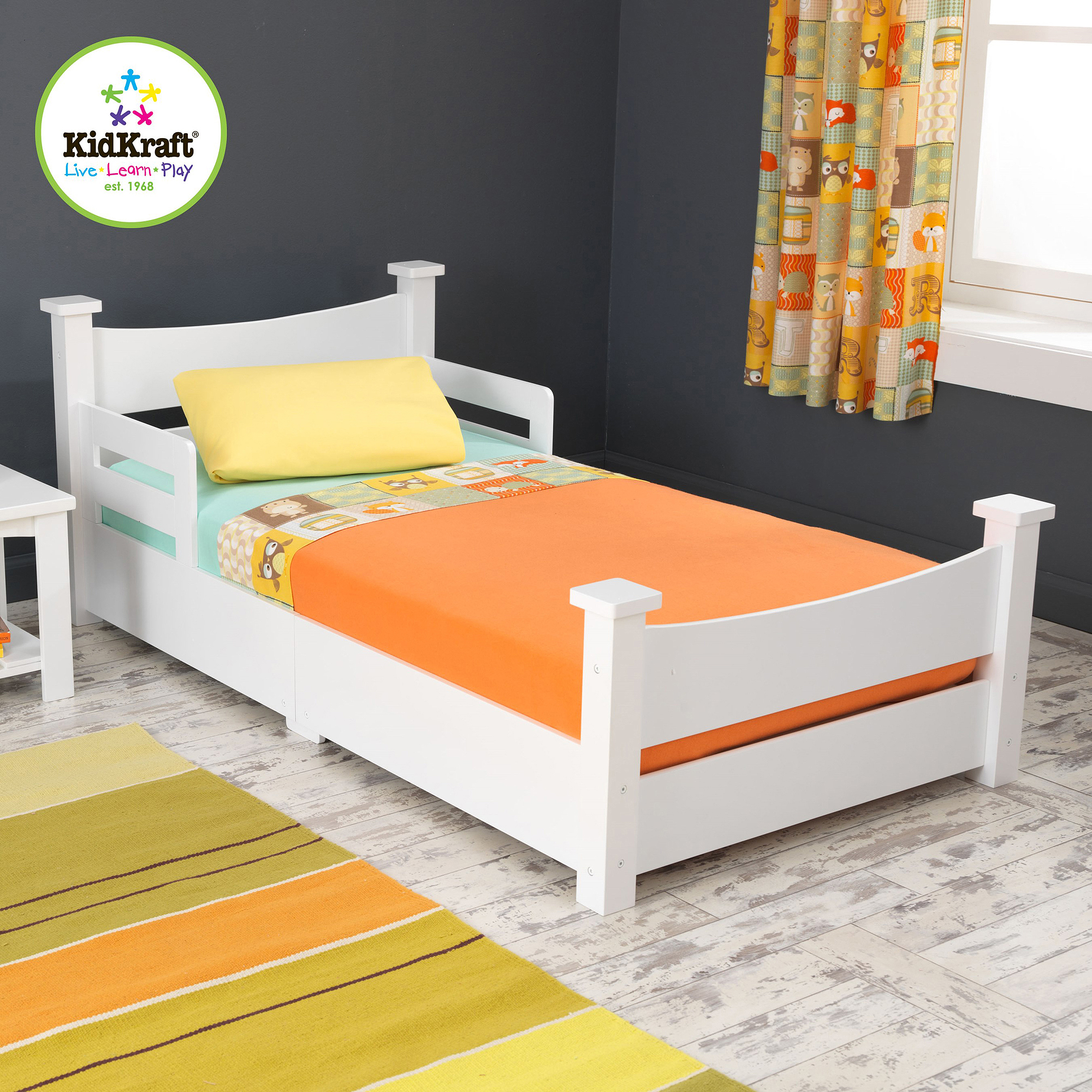 KidKraft Addison Toddler Bed White