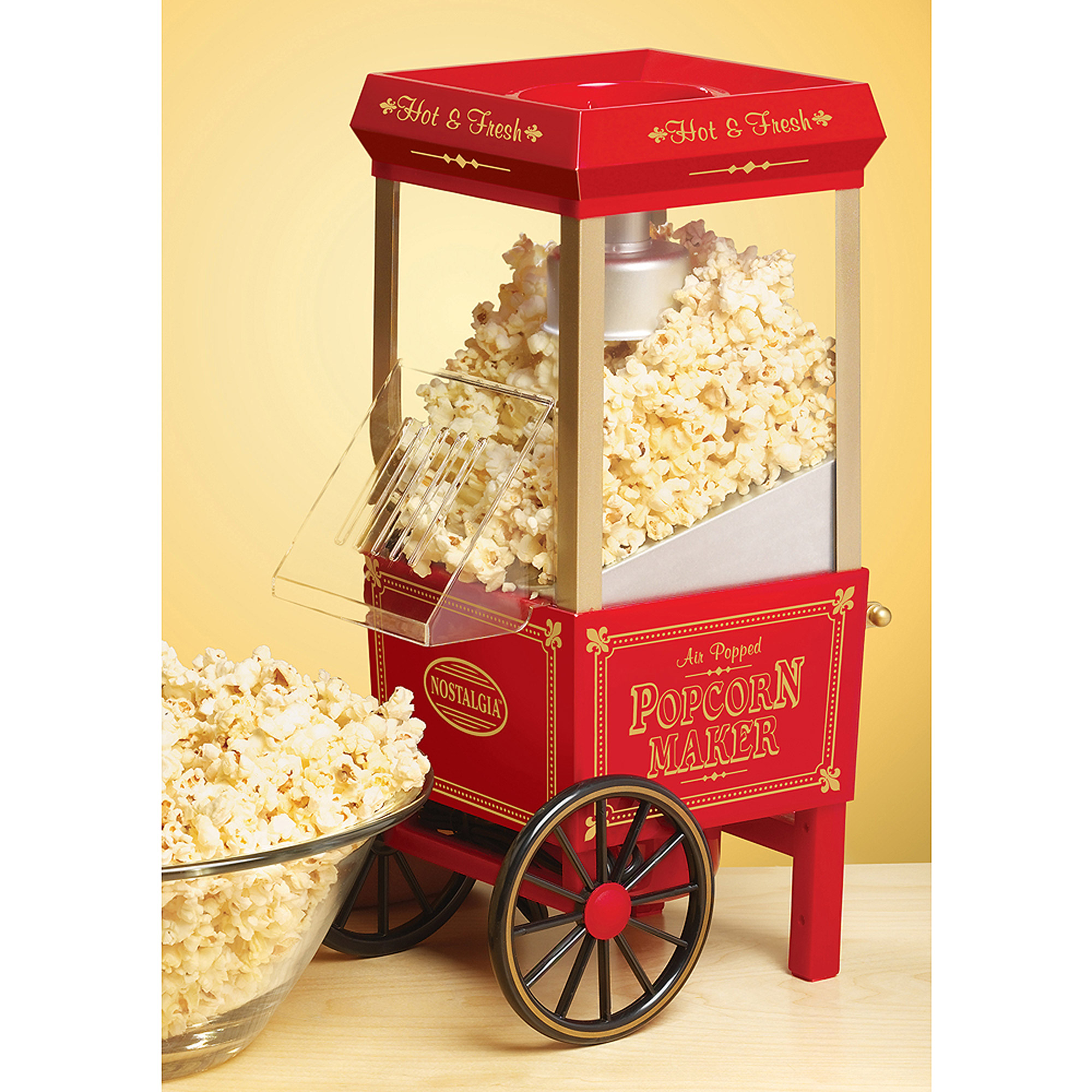 Nostalgia Hot Air Popcorn Maker, Red