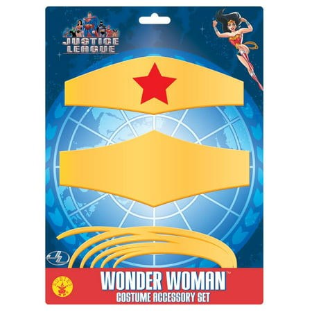 Wonder Woman Costume Accessory Set One Size - Wonder Woman Costume Accessories