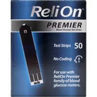 ReliOn Premier Blood Glucose Test Strips, 50 Ct