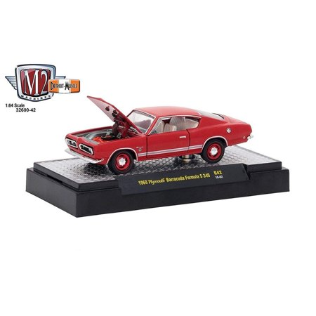 1967 Plymouth Barracuda Convertible (M2 Machines 1:64 Detroit Muscle Release 42 1969 Plymouth Barracuda 340 Red )