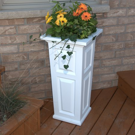 Nantucket Tall Planter White