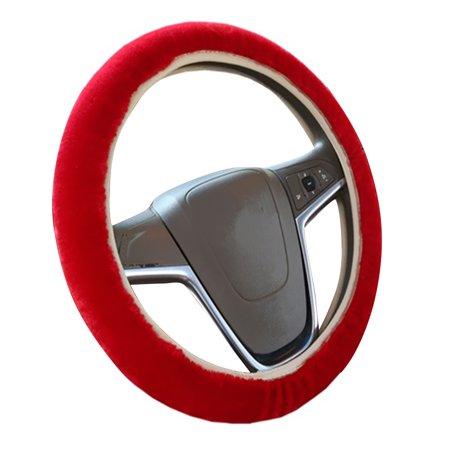 3pcs voiture style volant frein à main changement levier hiver laine feutre doux confortable auto accessoires couverture intérieur cas plush décoration - image 4 de 7