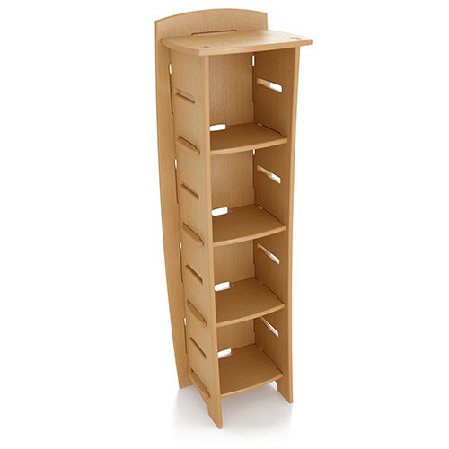No Tools Assembly Bookcase, Wheat