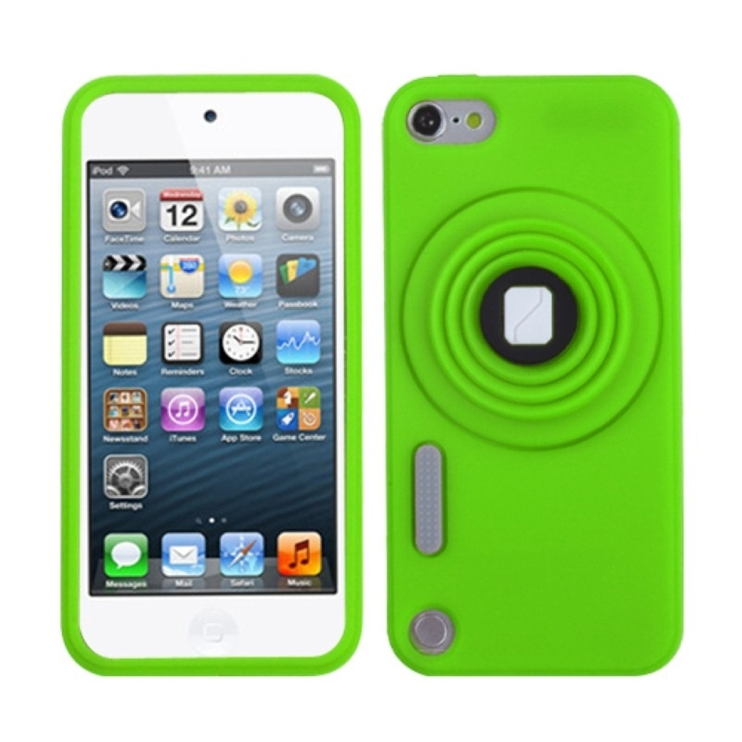 Insten Green Camera Style Stand Pastel Skin Case (with Lanyard) for iPod touch (5 5G 5th 6 6G 6th Gen)