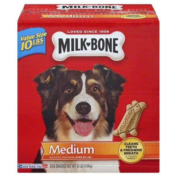Milk-Bone Original Dog Biscuits for Medium-sized Dogs, 10-Pound