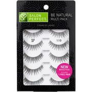 Salon Perfect Perfectly Natural Eyelashes, 110 Black, 4 pair