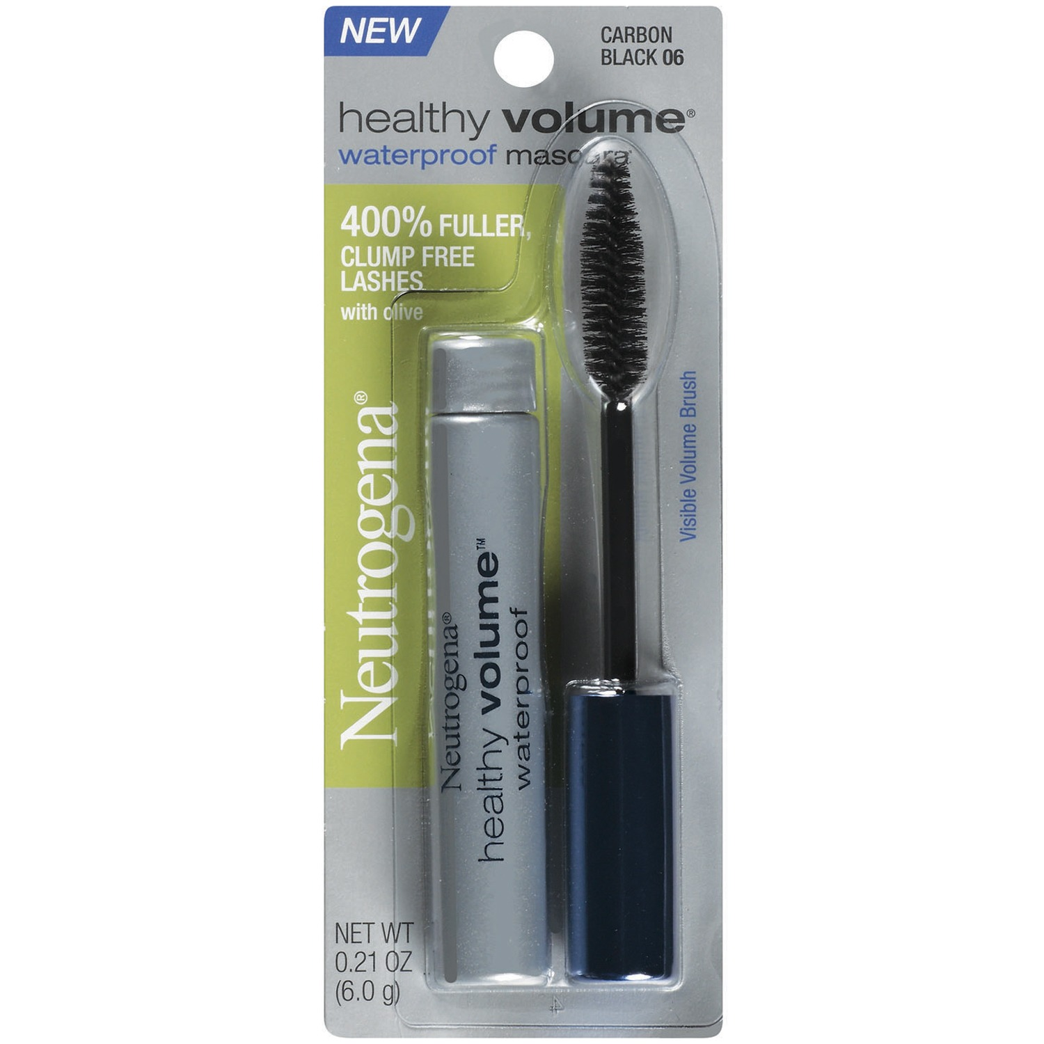 Neutrogena Healthy Volume Waterproof Mascara, Carbon Black 06, .21 Oz