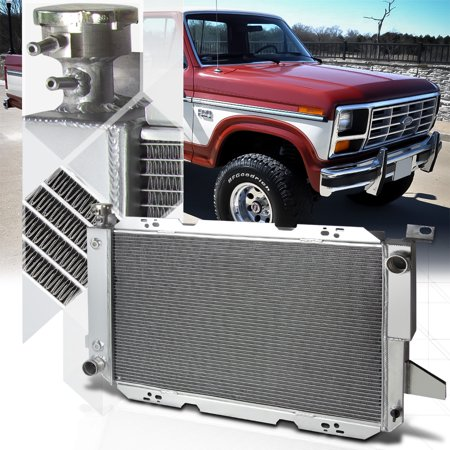 1991 Ford Bronco Radiator (Aluminum 3 Row Performance Cooling Radiator for 85-96 Ford F150/F250/Bronco V8 86 87 88 89 90 91 92 93 94)