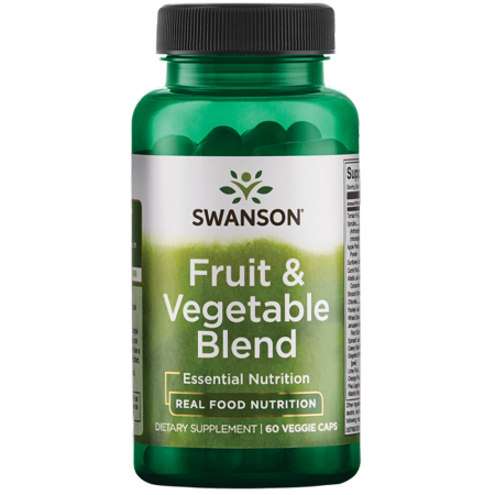 Swanson Fruit & Vegetable Blend 60 Veg Caps