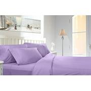 Clara Clark 1800 Series Deep Pocket 4pc Bed Sheet Set Queen Size, Lavender