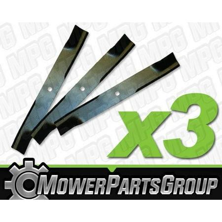 Bunton Mower Parts - D501 (3) Heavy Duty Blades Fits Bunton Dixie Chopper Gravely Toro with 50