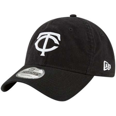 Minnesota Twins New Era Core Classic Twill 9TWENTY Adjustable Hat - Black - OSFA (Minnesota Twins Baseball Hat)