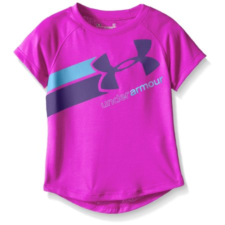 Under armour new purple size 5 girls logo graphic print for Under armour shirts at walmart