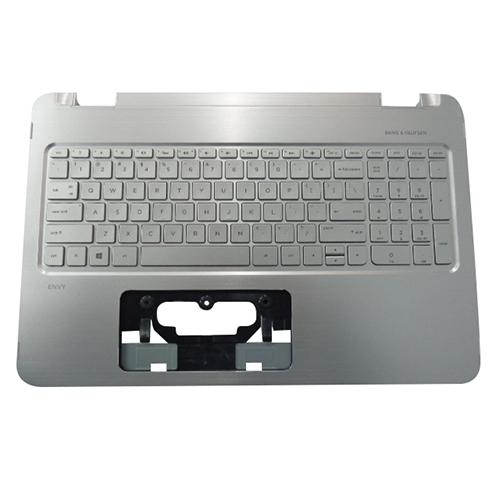 Genuine HP ENVY X360 15-U 15T-U Silver Palmrest w/ US Keyboard 830194-001