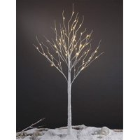 Lightshare 6' 72-Light LED Tall Birch Tree