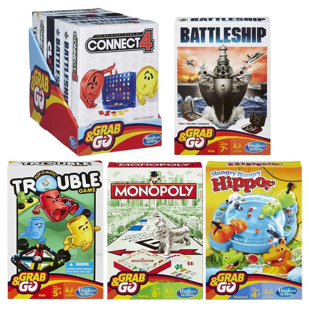 Grab & Go Game Ast (6) Board Game Hasbro HSBB1004 by Hasbro