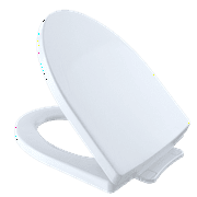 TOTO Soirée SoftClose Non Slamming, Slow Close Elongated Toilet Seat and Lid, Cotton White - SS214#01