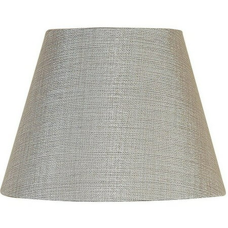 Silver Faux Fabric Shade (Better Homes and Gardens Textured Accent Lamp Shade,)