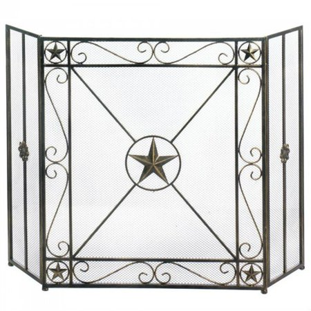 Fireplace Screens Decorative Iron Western Star Rustic Screen