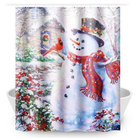 Kadell 9 Patterns Waterproof Shower Curtain Set with Hooks Bathroom Accessories For Home Decor Theme Hotel Decor Quick Dry 71x 65