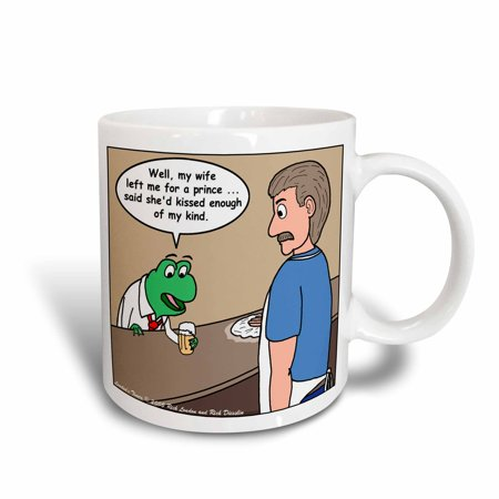 3dRose The Frog And The Bartender, Ceramic Mug, - Isaac Bartender