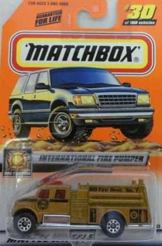 1999 30 100 International Fire Pumper, By Matchbox by