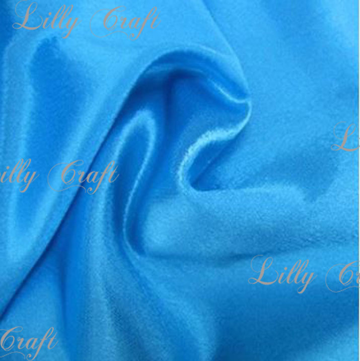 """Turquoise Charmeuse Satin Fabric 58""""/60"""" Inches Wide - Sold By The Yard"""