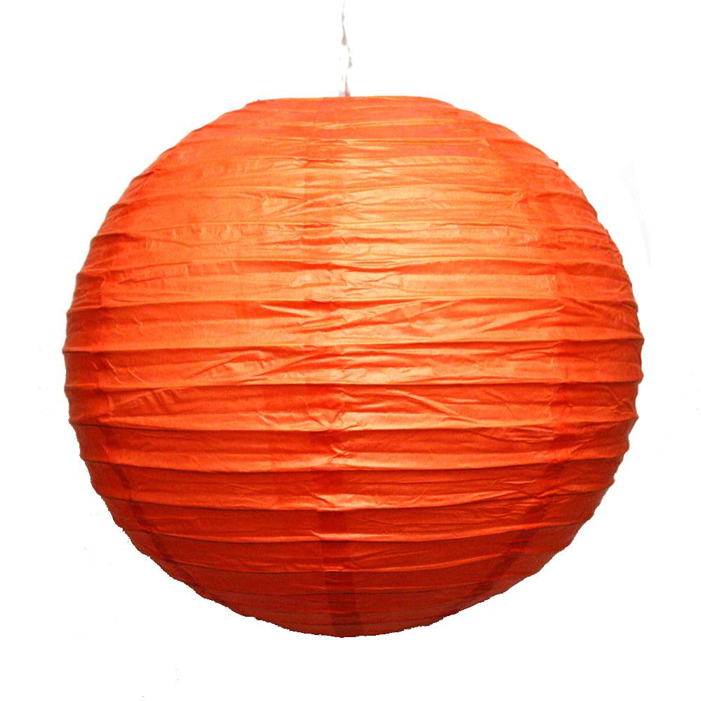 """12"""" Orange Paper Lanterns"""