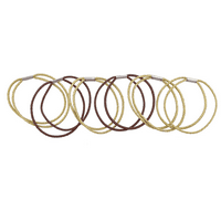 Lux Accessories Gold Brown Glitter Double Row Pony Tail Stretch Hair Tie Set 6Pc