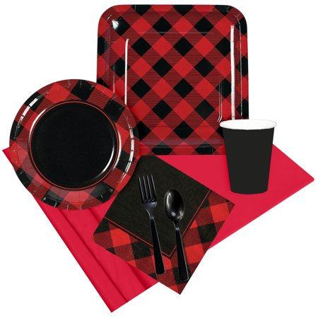 Buffalo Plaid Party Pack For 8](Party City Buffalo)