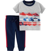 Child of Mine by Carter's Short Sleeve T-Shirt & Pants, 2-Piece Outfit Set (Baby Boys)