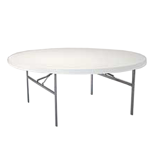 Lifetime White Granite 6 Foot Round Table With Folding 22673 Walmart Com