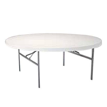lifetime white granite 6 foot round table with folding legs. Black Bedroom Furniture Sets. Home Design Ideas