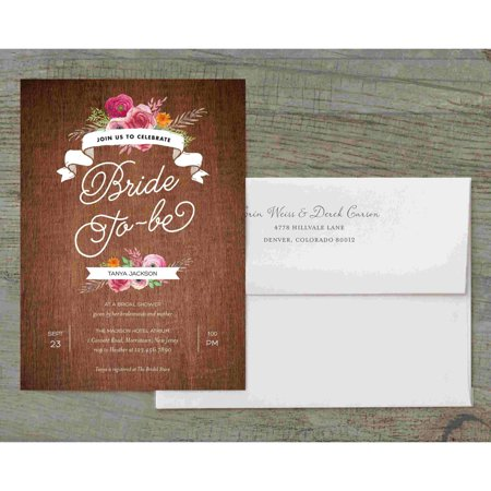 Rustic Shower Deluxe Bridal Shower Invitation