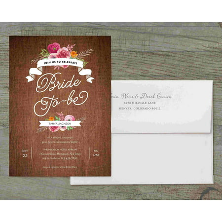 - Rustic Shower Deluxe Bridal Shower Invitation