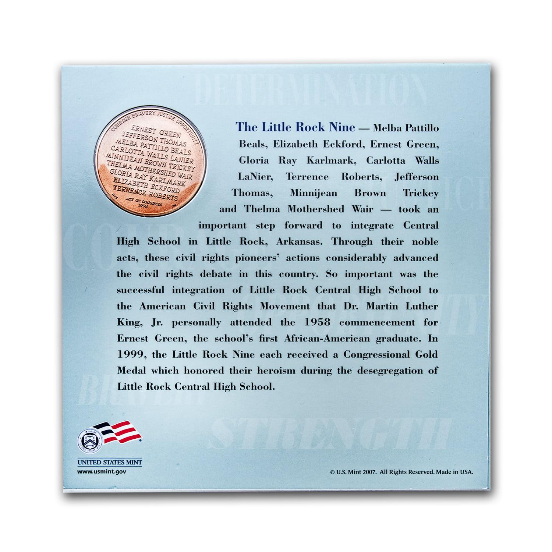 2007 Little Rock Desegregation Coin & Medal Set