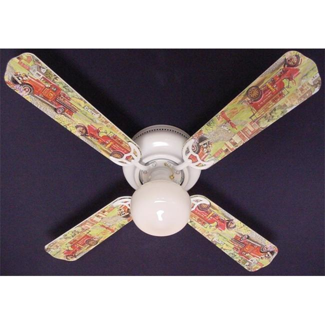 Ceiling Fan Designers 42FAN-KIDS-KRFT Fire Trucks Ceiling Fan 42 inch