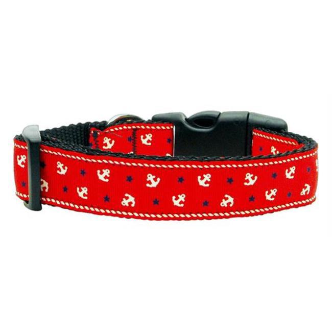 Anchors Nylon Ribbon Collar Red Medium - image 1 de 1
