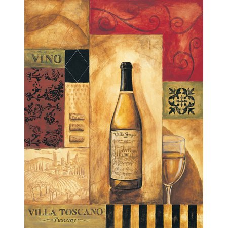 Villa Toscano - Mini Spirits Tuscan Drink Awesome Alcohol Sign Italian Best Vino Wall Poster