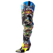 Cape Robbin Hilda Multi Snake Thigh Over Knee Pointy Wetern Kelsey Slouchy Boots